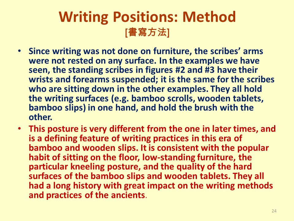 Writing Positions: Method [書寫方法]